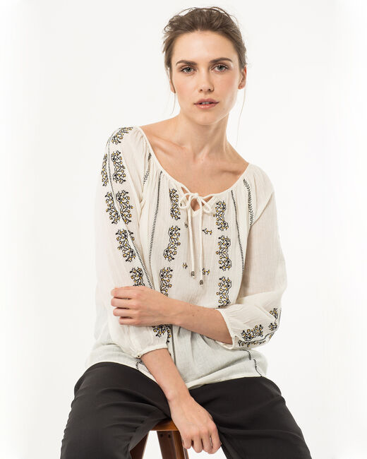 Enara ecru embroidered blouse (1) - 1-2-3