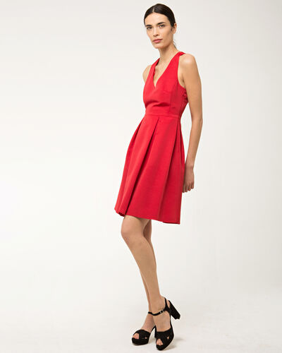 Flirt red dress in ottoman (1) - 1-2-3