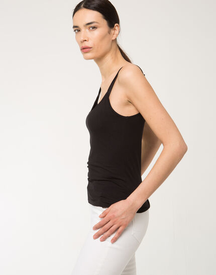 Nina black vest top (2) - 1-2-3