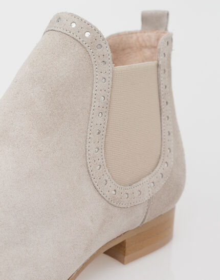 Jeanne taupe boots in suede (5) - 1-2-3