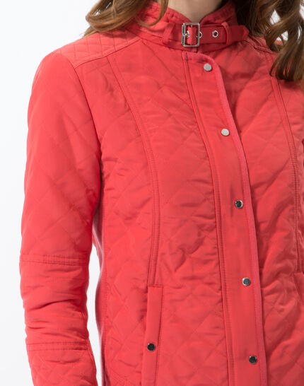 Olympe raspberry quilted parka (5) - 1-2-3