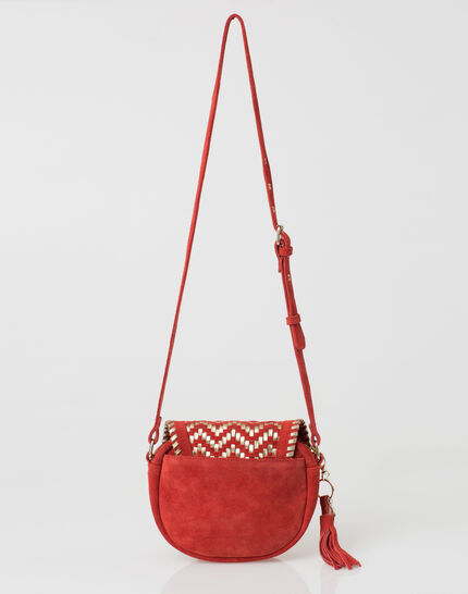 Pedro red velour bag PhotoZ | 1-2-3
