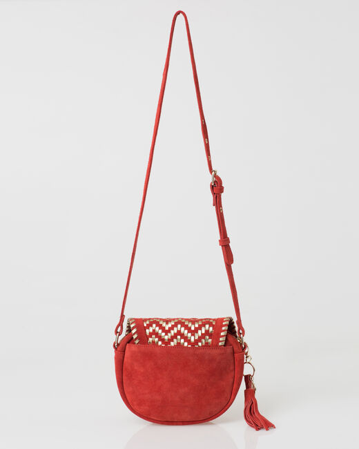 Pedro red velour bag (2) - 1-2-3