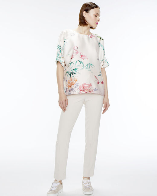 Pantalon de tailleur beige Lara (1) - 1-2-3