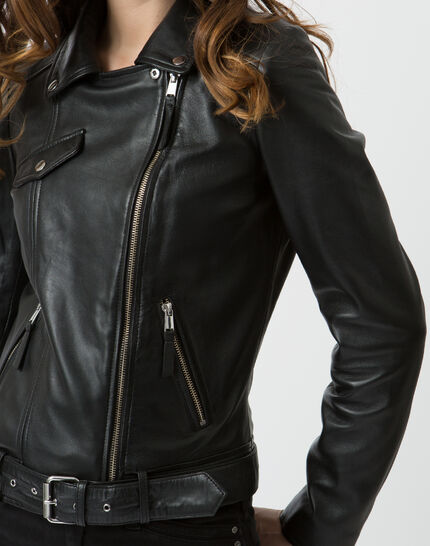 Gabriel black leather jacket (5) - 1-2-3
