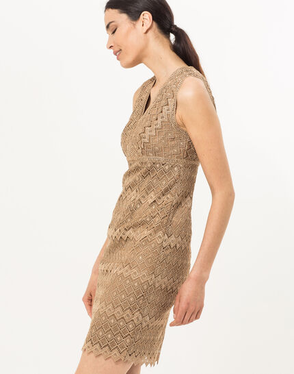 Fever gilt dress in Lurex lace  (3) - 1-2-3