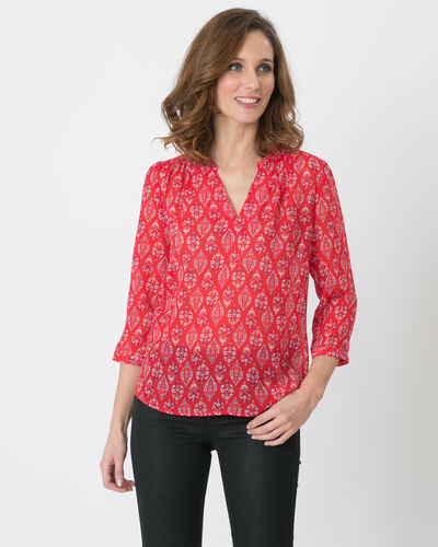 Erine raspberry printed shirt (1) - 1-2-3