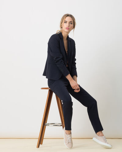 Eve Bis navy blue tailored jacket (1) - 1-2-3