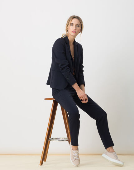 Eve Bis navy blue tailored jacket (2) - 1-2-3