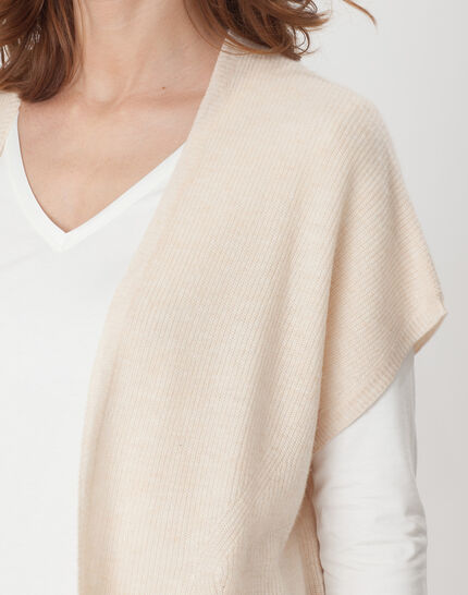 Himalaya beige cape-style cardigan (5) - 1-2-3