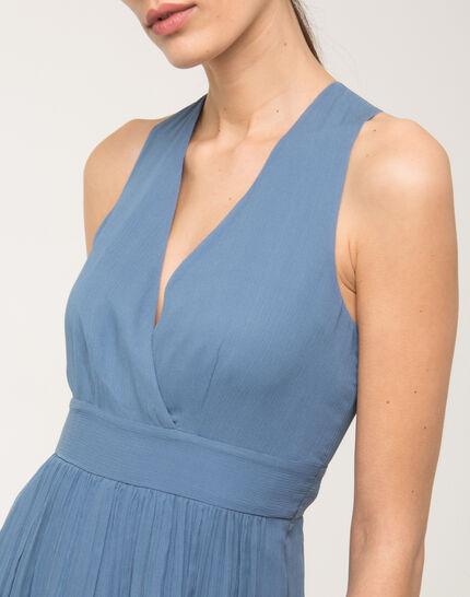 Florane blue silk dress with jewelled back (5) - 1-2-3
