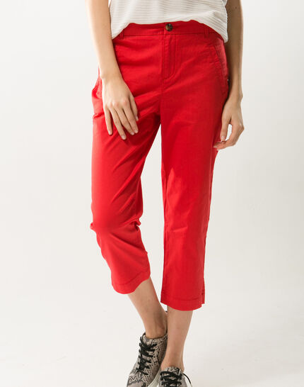 Filibert red cropped trousers (3) - 1-2-3