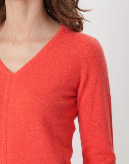 Heart orangey cashmere sweater (5) - 1-2-3