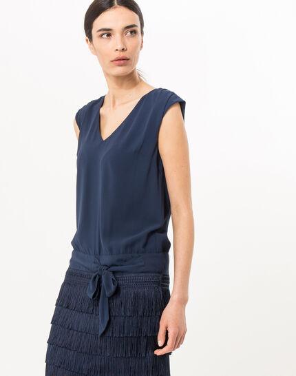 Robe bleu marine esprit Charleston Mistinguette (3) - 1-2-3