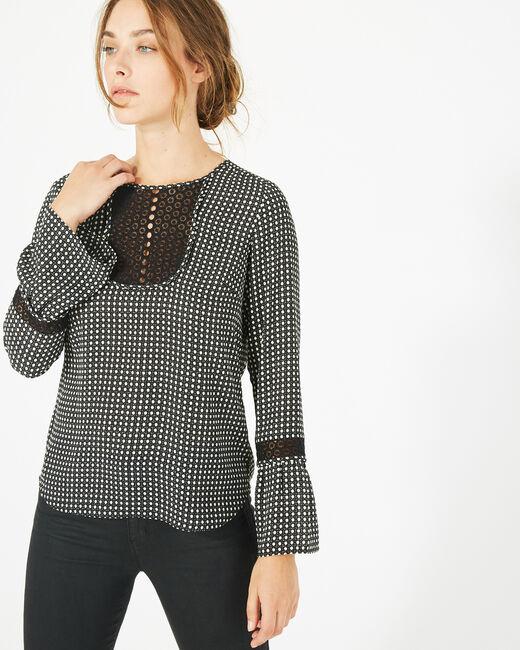 Edelys black printed blouse (2) - 1-2-3