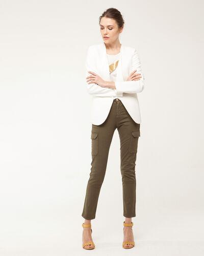 Maite ecru jacket with tailored collar (1) - 1-2-3