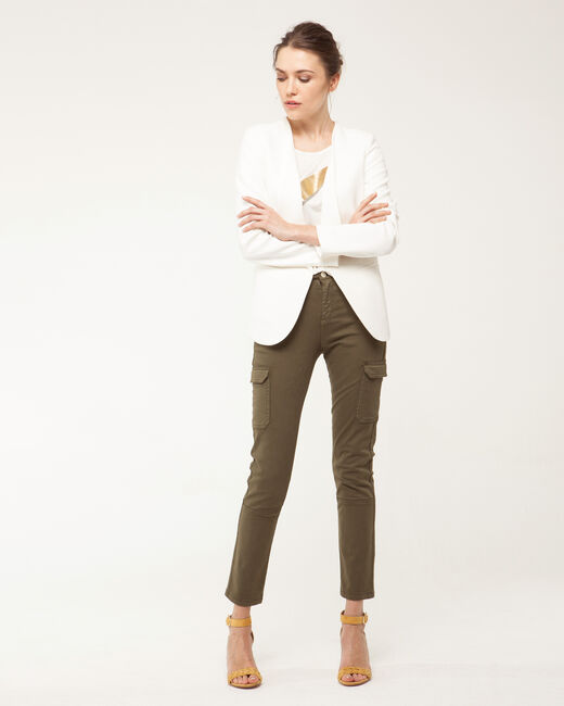 Maite ecru jacket with tailored collar (1) - 1-2-3