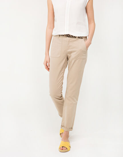 Denis beige 7/8 length trousers PhotoZ | 1-2-3