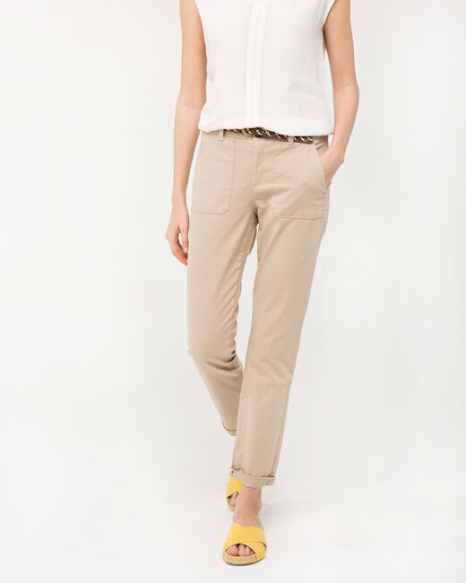 Pantalon 7/8ème beige Denis (2) - 1-2-3