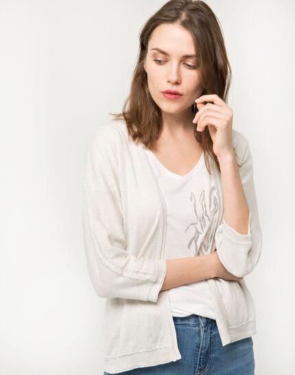 Hirondelle beige knitted jacket PhotoZ | 1-2-3