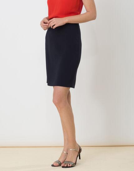 Domino navy blue tailored skirt (4) - 1-2-3