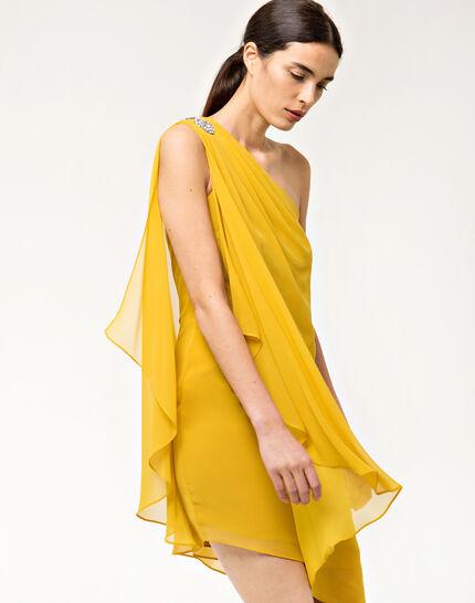 Féline one-shoulder yellow dress (6) - 1-2-3