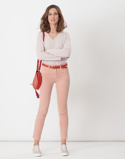 Heart powder pink cashmere sweater (2) - 1-2-3