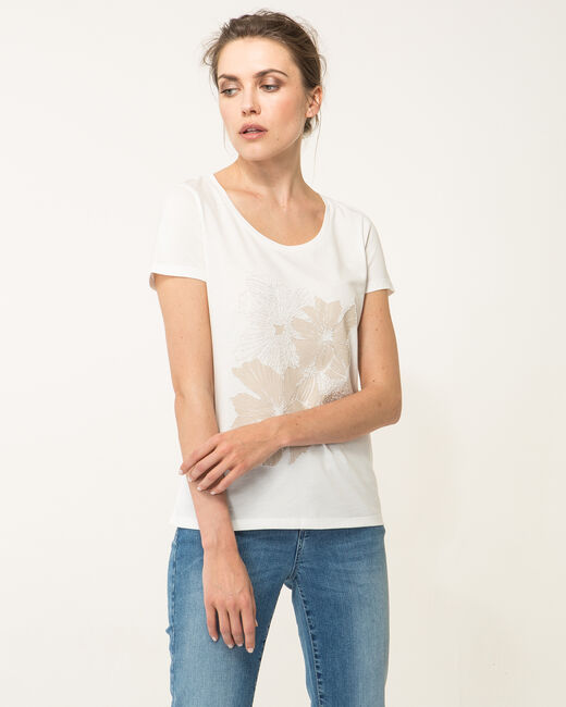 Tee-shirt écru imprimé Noopsy (2) - 1-2-3