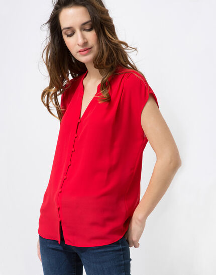 Fiona red blouse PhotoZ | 1-2-3