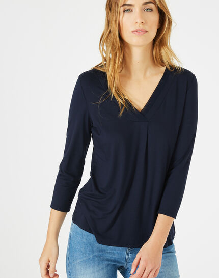 Tee-shirt bleu marine Barbara PhotoZ | 1-2-3