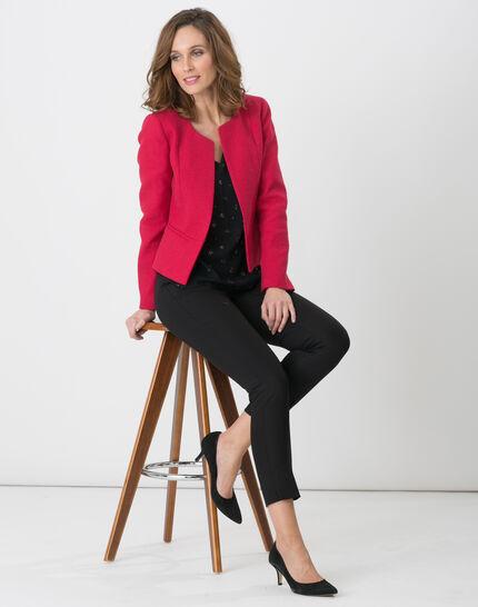 Pauline smart black trousers with belt (2) - 1-2-3