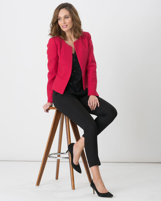 Pauline smart black trousers with belt (1) - 1-2-3