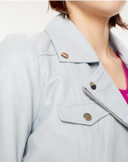 Gabriel blue biker-style leather jacket (5) - 1-2-3
