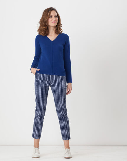 Heart dark blue cashmere jumper (2) - 1-2-3