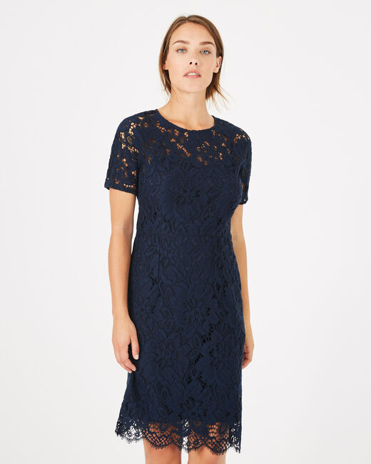 Gilda navy blue lace dress (1) - 1-2-3