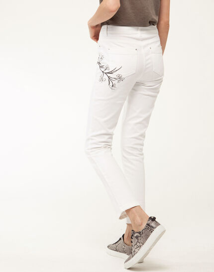 Xilia embroidered cream 7/8 length jeans (3) - 1-2-3