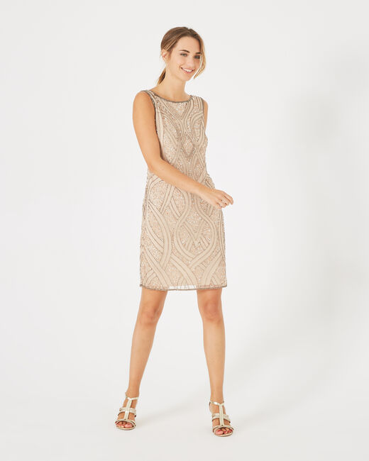 Floride nude embroidered dress (2) - 1-2-3