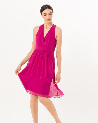 Florane pink silk dress with jewelled back (1) - 1-2-3