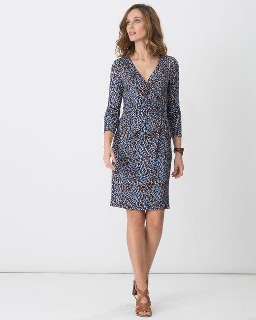 Robe bleue imprimée animalier Bermude (1) - 1-2-3