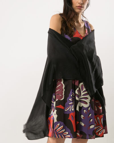 Pat black poncho-style stole (2) - 1-2-3