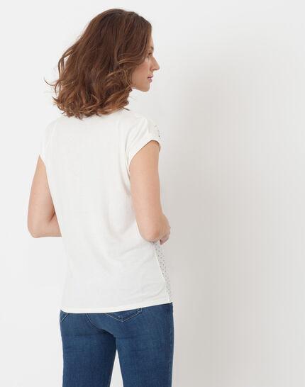 Nolita ecru T-shirt with polka dots (4) - 1-2-3