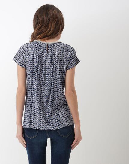 Emeraude blue printed blouse (4) - 1-2-3