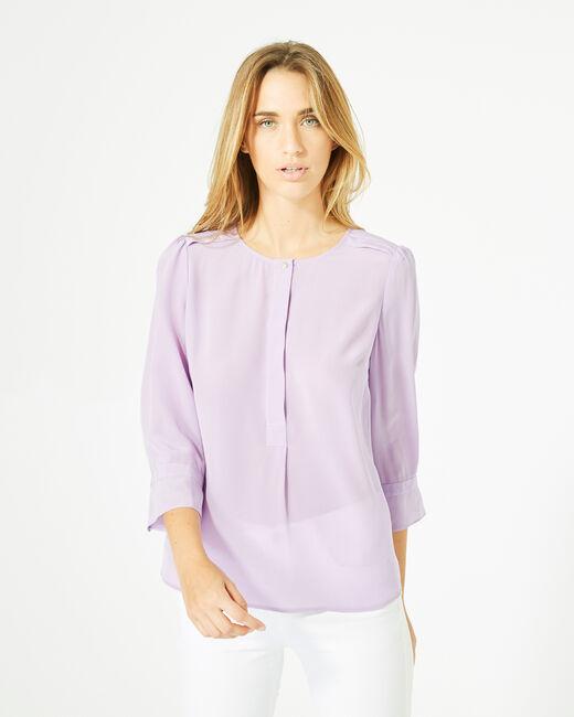 Dorothée lilac silk blouse (2) - 1-2-3