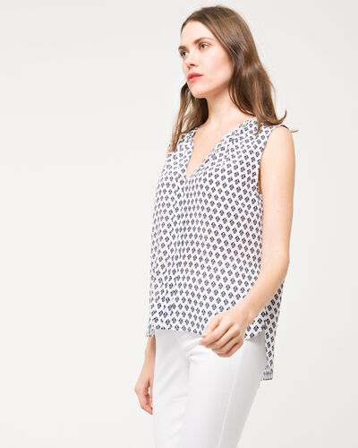 Emine printed silk top (1) - 1-2-3