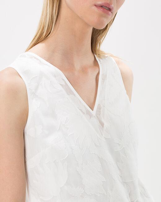 Tee-shirt écru dévoré effet dentelle New (1) - 1-2-3