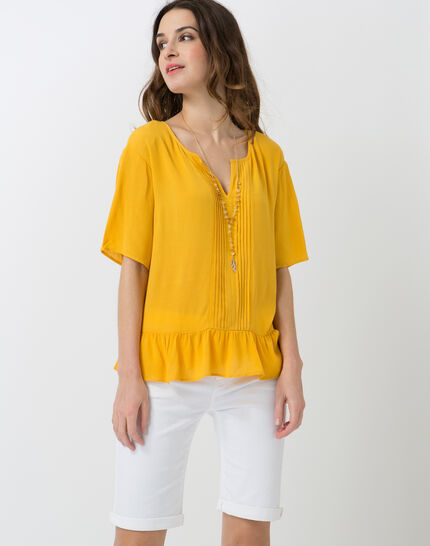 Esmee sunny yellow blouse with pagoda shirt (5) - 1-2-3