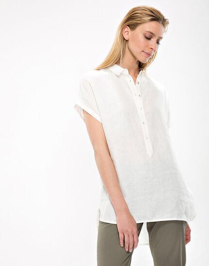 Elsie ecru linen tunic (6) - 1-2-3