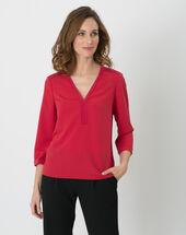 Eleonore raspberry shirt dark red.