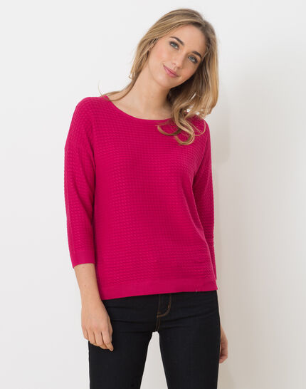 Hélice fuchsia sweater with long sleeves PhotoZ | 1-2-3