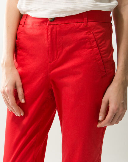 Filibert red cropped trousers (5) - 1-2-3